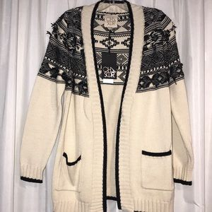 Sweaters - Chaser tribal cardigan BNWT